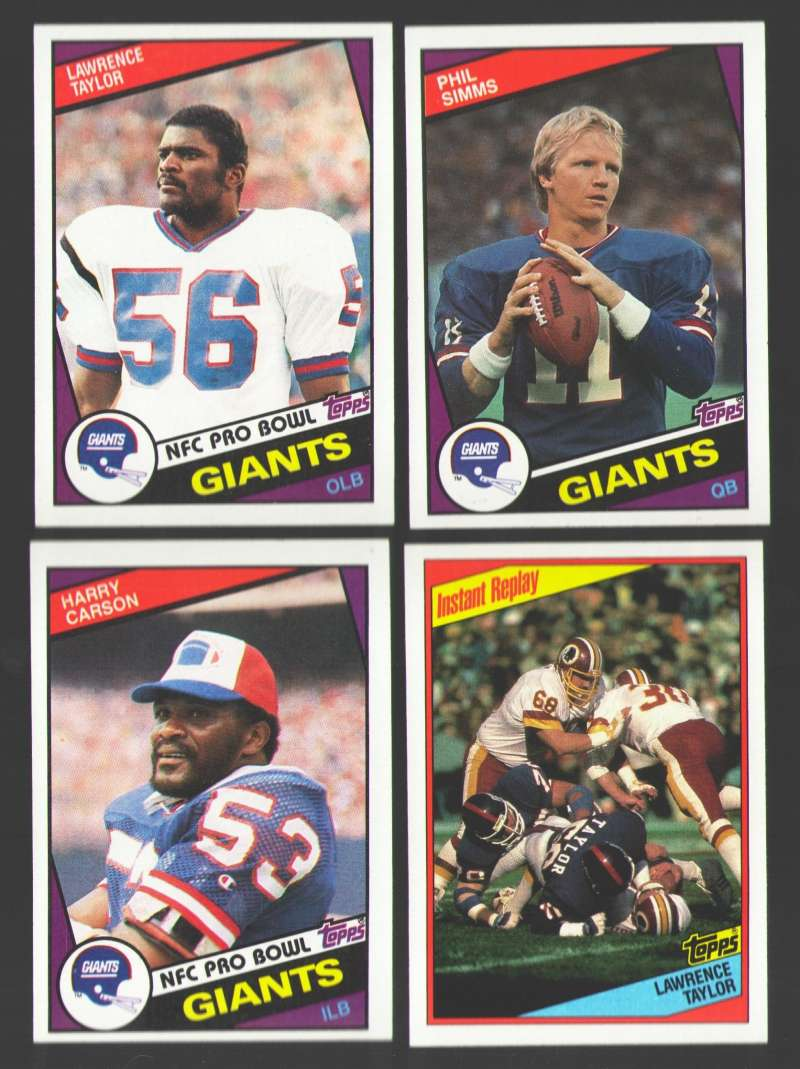 1984 Topps Football Team Set - NEW YORK GIANTS