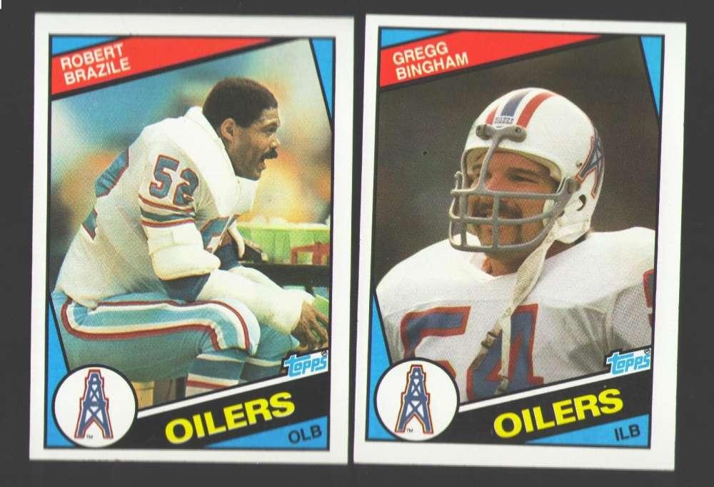1984 Topps Football Team Set - HOUSTON OILERS