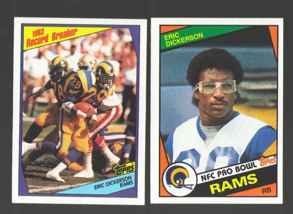 1984 Topps Football Team Set - LOS ANGELES RAMS w/ ERIC DICKERSON RC