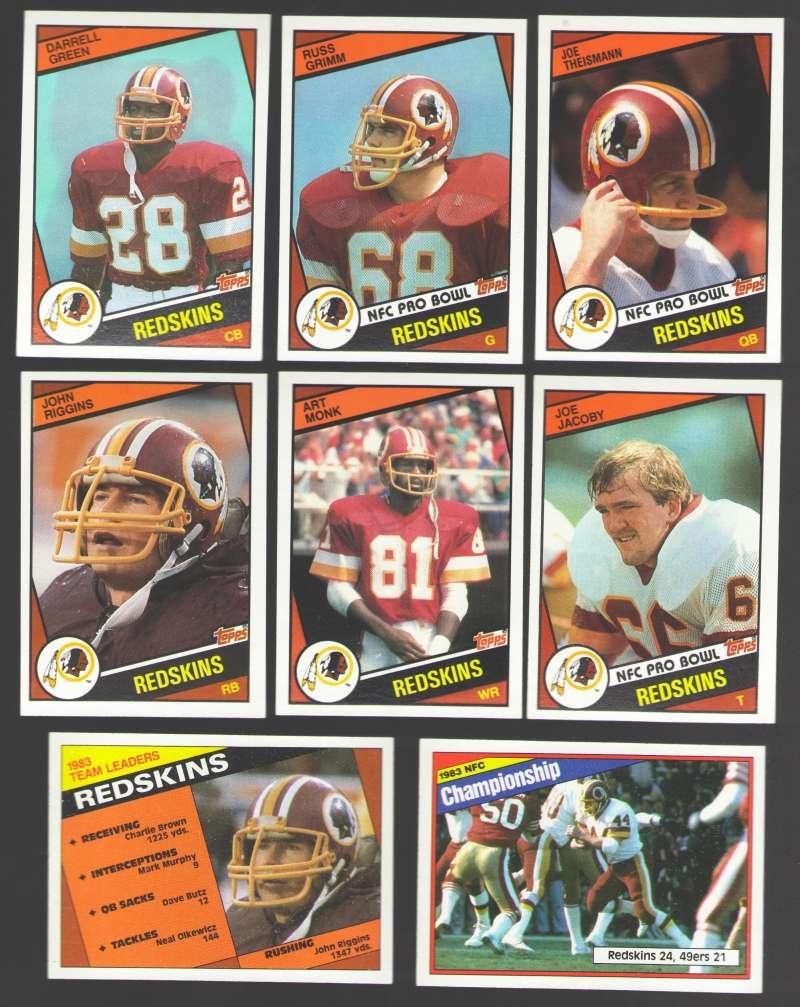 1984 Topps Football Team Set - WASHINGTON REDSKINS