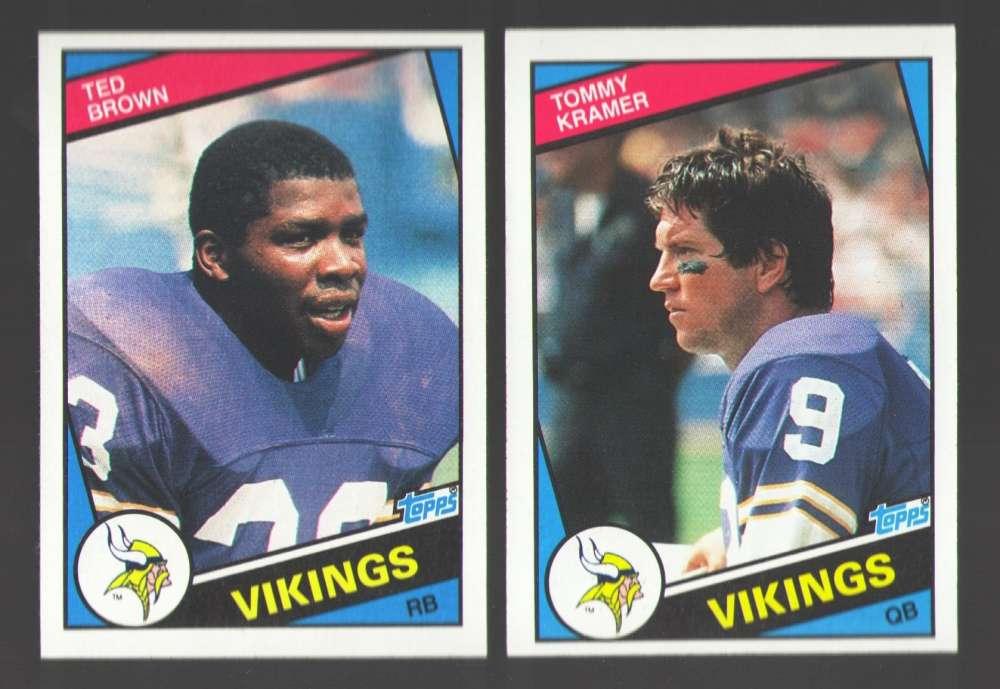 1984 Topps Football Team Set - MINNESOTA VIKINGS