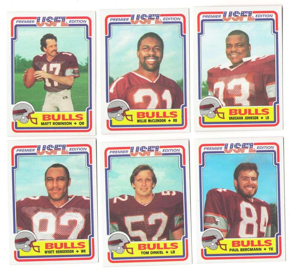 1984 Topps USFL Football Team Set - Jacksonville Bulls