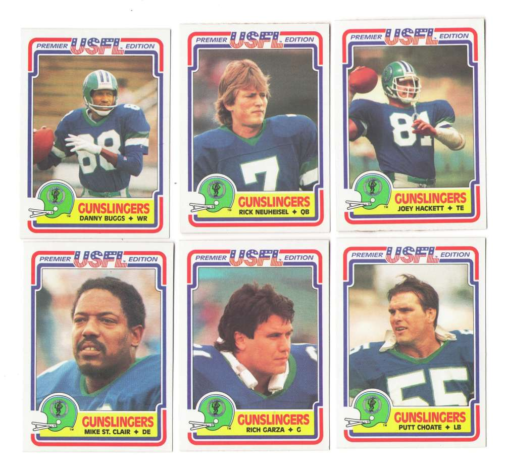 1984 Topps USFL Football Team Set - San Antonio Gunslingers