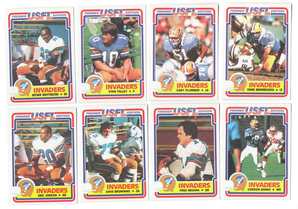 1984 Topps USFL Football Team Set - Oakland Invaders