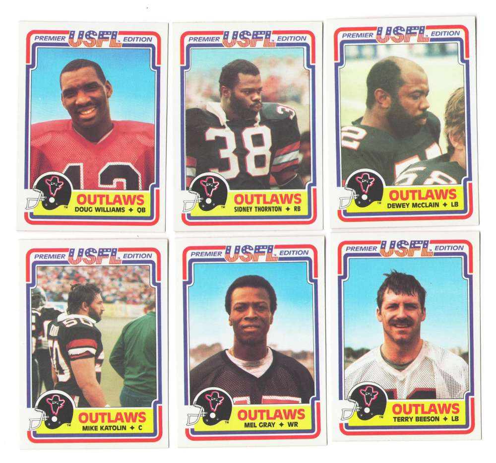 1984 Topps USFL Football Team Set - Oklahoma Outlaws