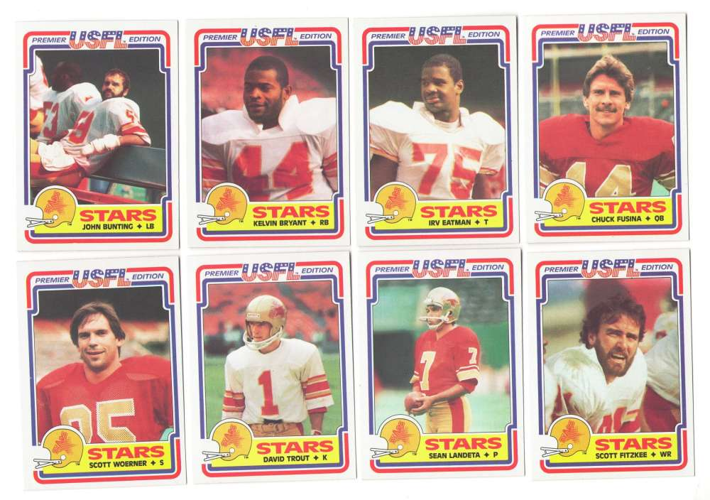 1984 Topps USFL Football Team Set - Philadelphia Stars