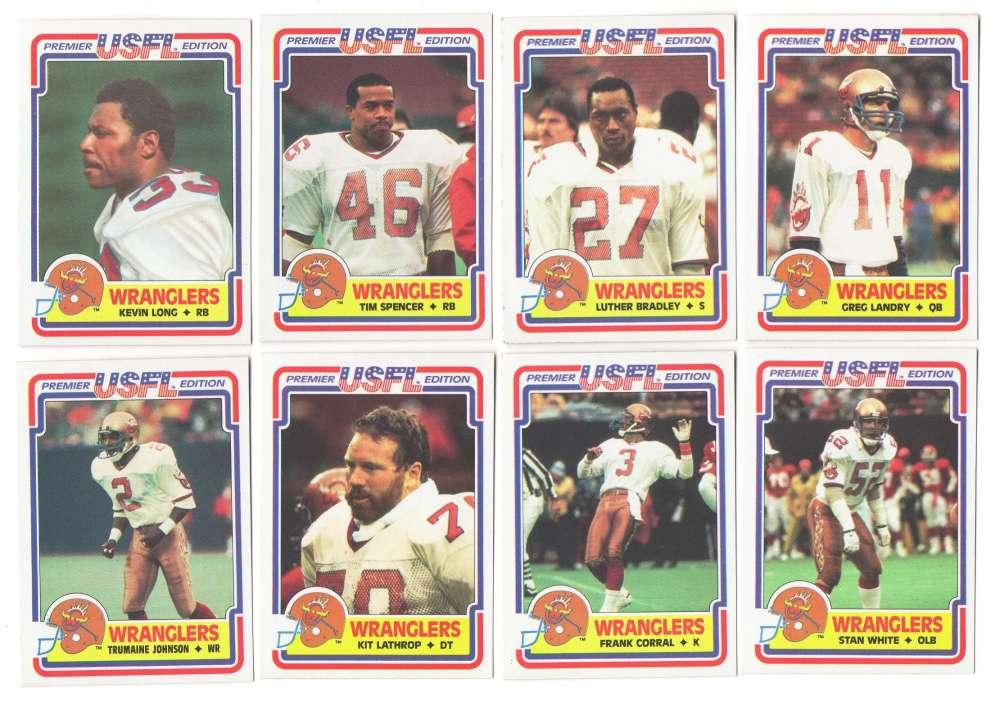 1984 Topps USFL Football Team Set - Arizona Wranglers