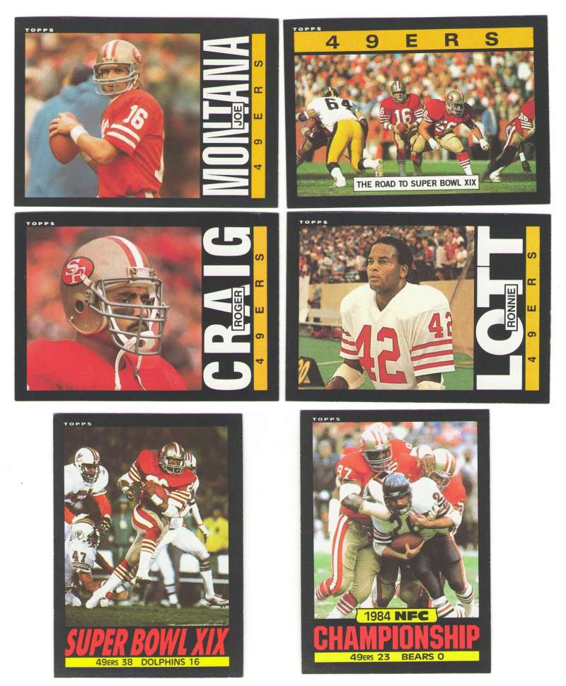 1985 Topps Football Team Set - SAN FRANCISCO 49ERS