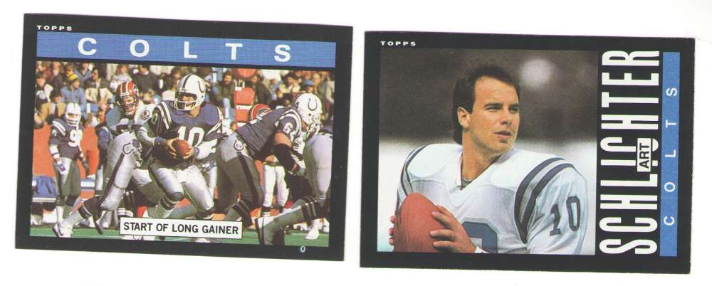 1985 Topps Football Team Set - INDIANAPOLIS COLTS