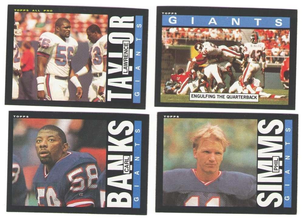 1985 Topps Football Team Set - NEW YORK GIANTS