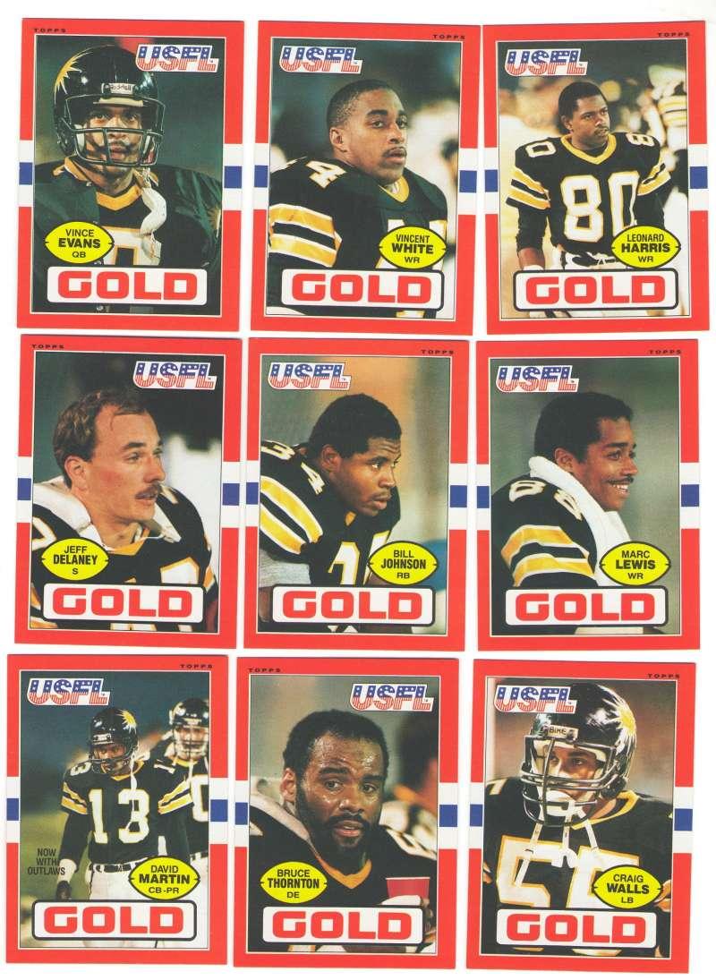 1985 Topps USFL Football Team Set - Denver Gold