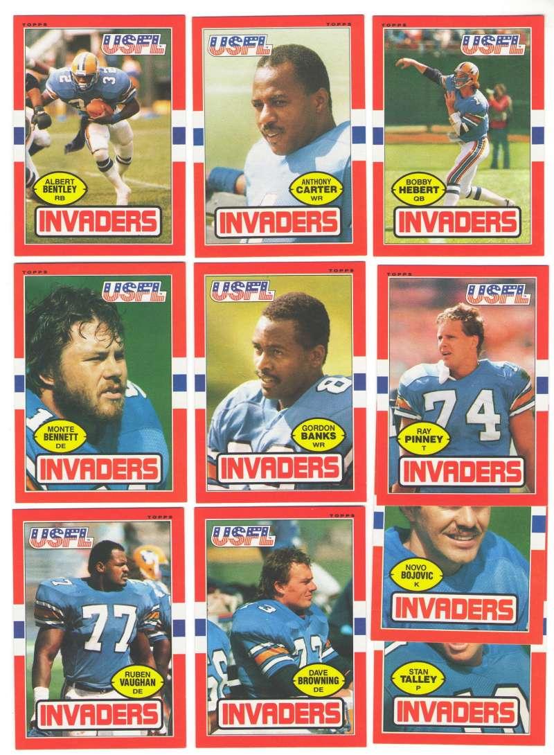 1985 Topps USFL Football Team Set - Oakland Invaders