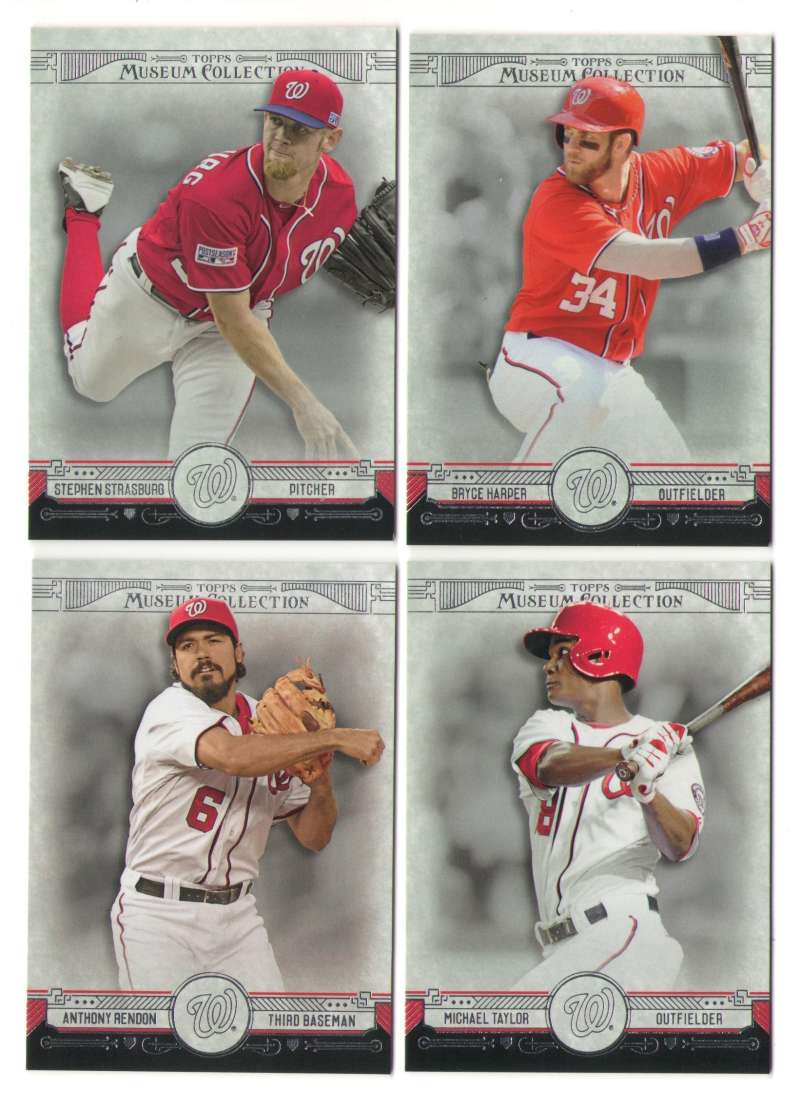 2015 Topps Museum Collection - WASHINGTON NATIONALS Team set