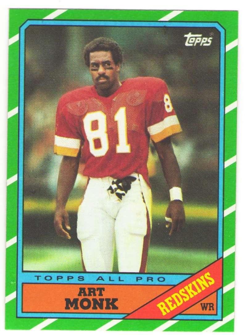 1986 Topps Football Team Set - WASHINGTON REDSKINS