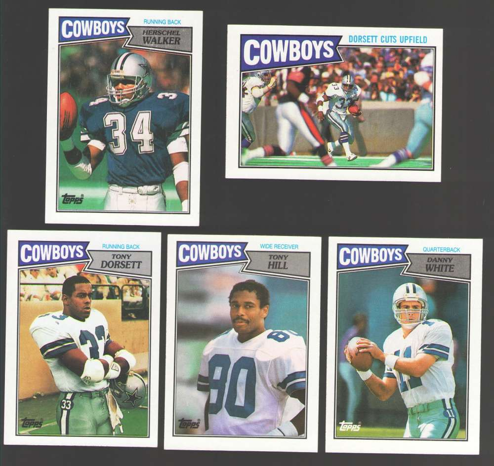 1987 Topps Football Team Set - DALLAS COWBOYS w/ Herschel Walker RC