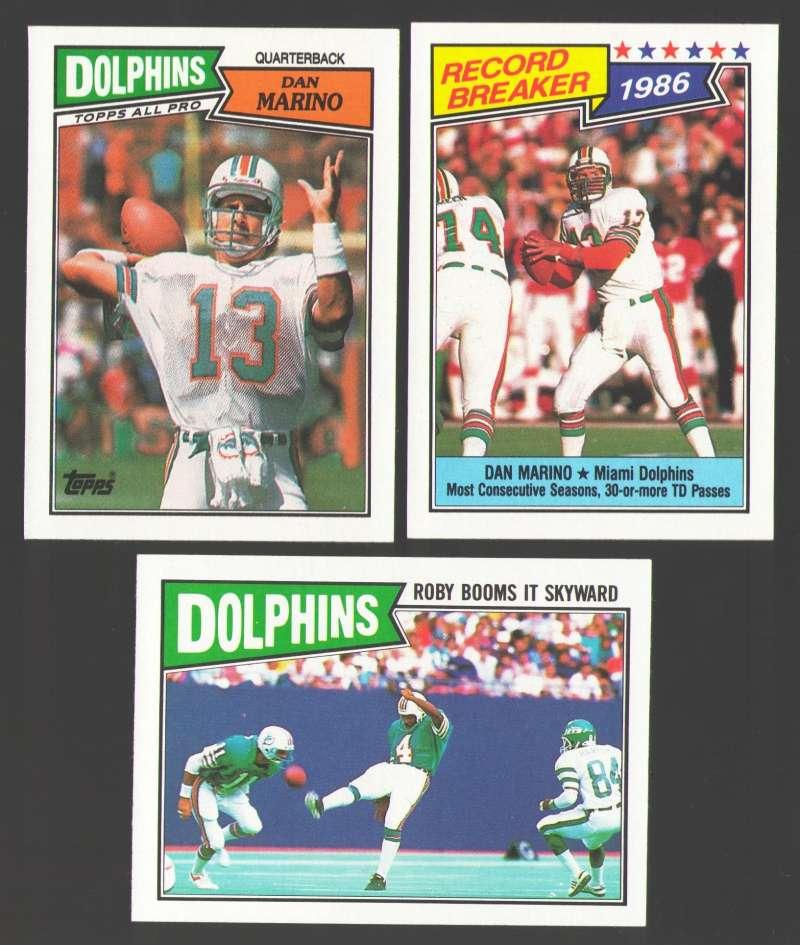 1987 Topps Football Team Set - MIAMI DOLPHINS w/ Dan Marino
