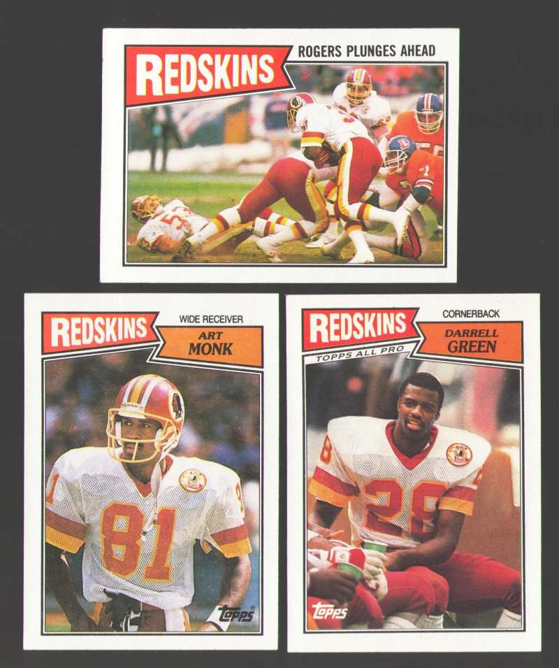 1987 Topps Football Team Set - WASHINGTON REDSKINS
