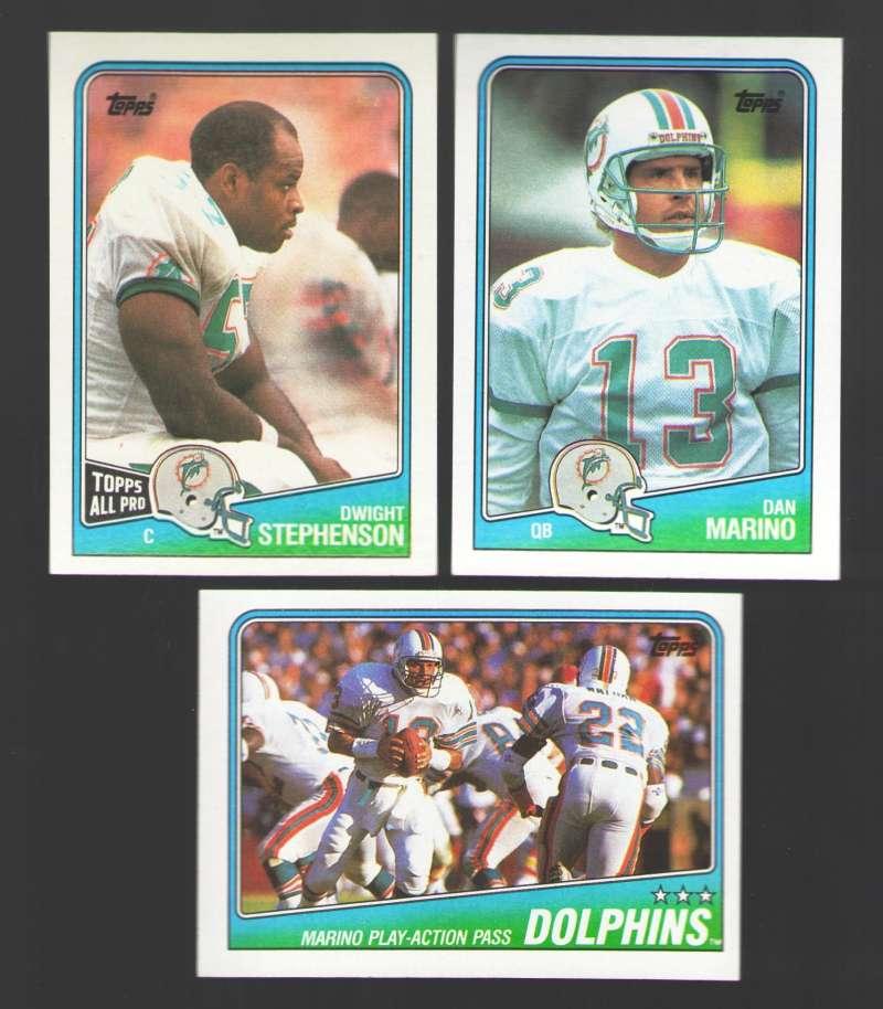 1988 Topps Football Team Set - MIAMI DOLPHINS