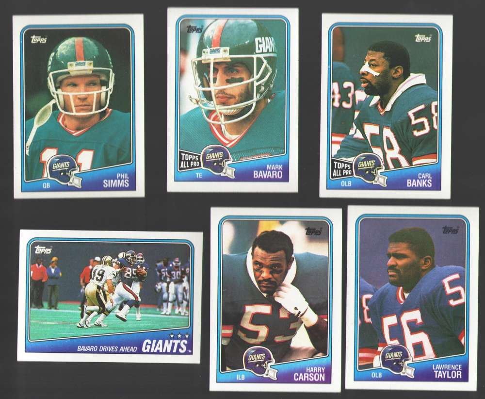 1988 Topps Football Team Set - NEW YORK GIANTS