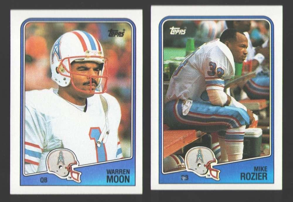 1988 Topps Football Team Set - HOUSTON OILERS