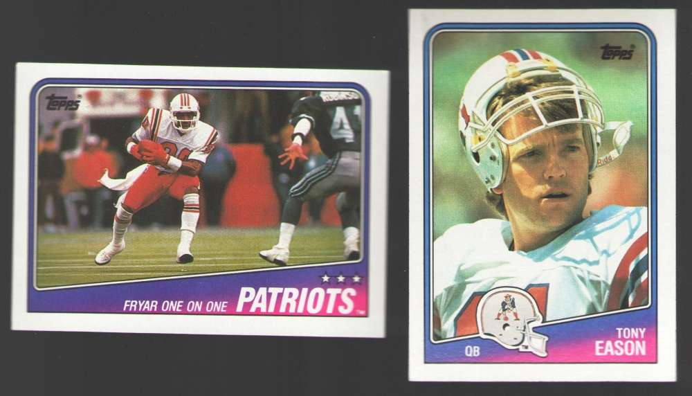 1988 Topps Football Team Set - NEW ENGLAND PATRIOTS