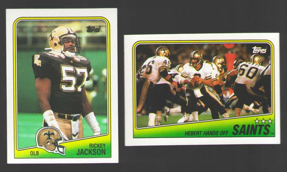 1988 Topps Football Team Set - NEW ORLEANS SAINTS