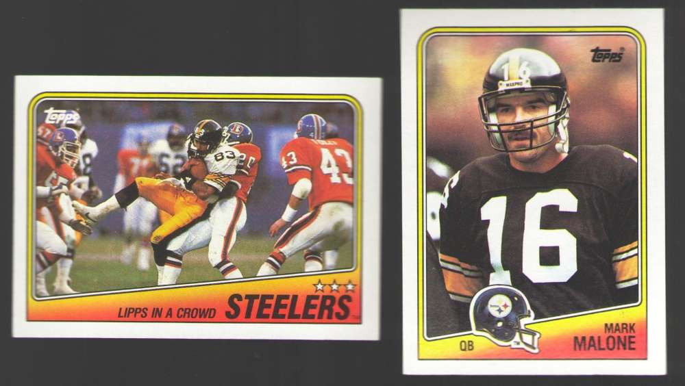 1988 Topps Football Team Set - PITTSBURGH STEELERS