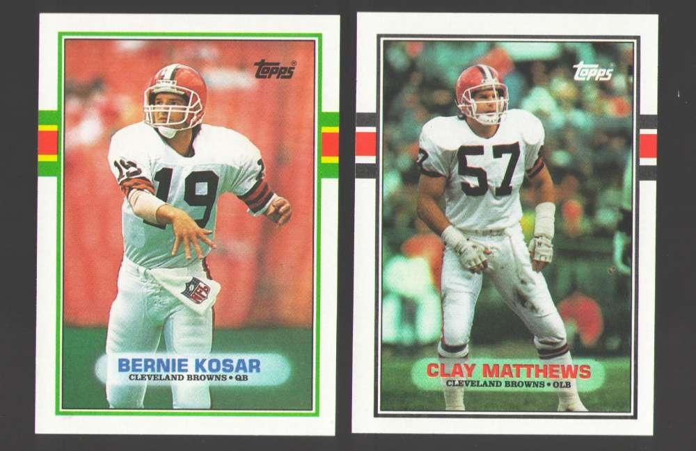 1989 Topps Football Team Set - CLEVELAND BROWNS
