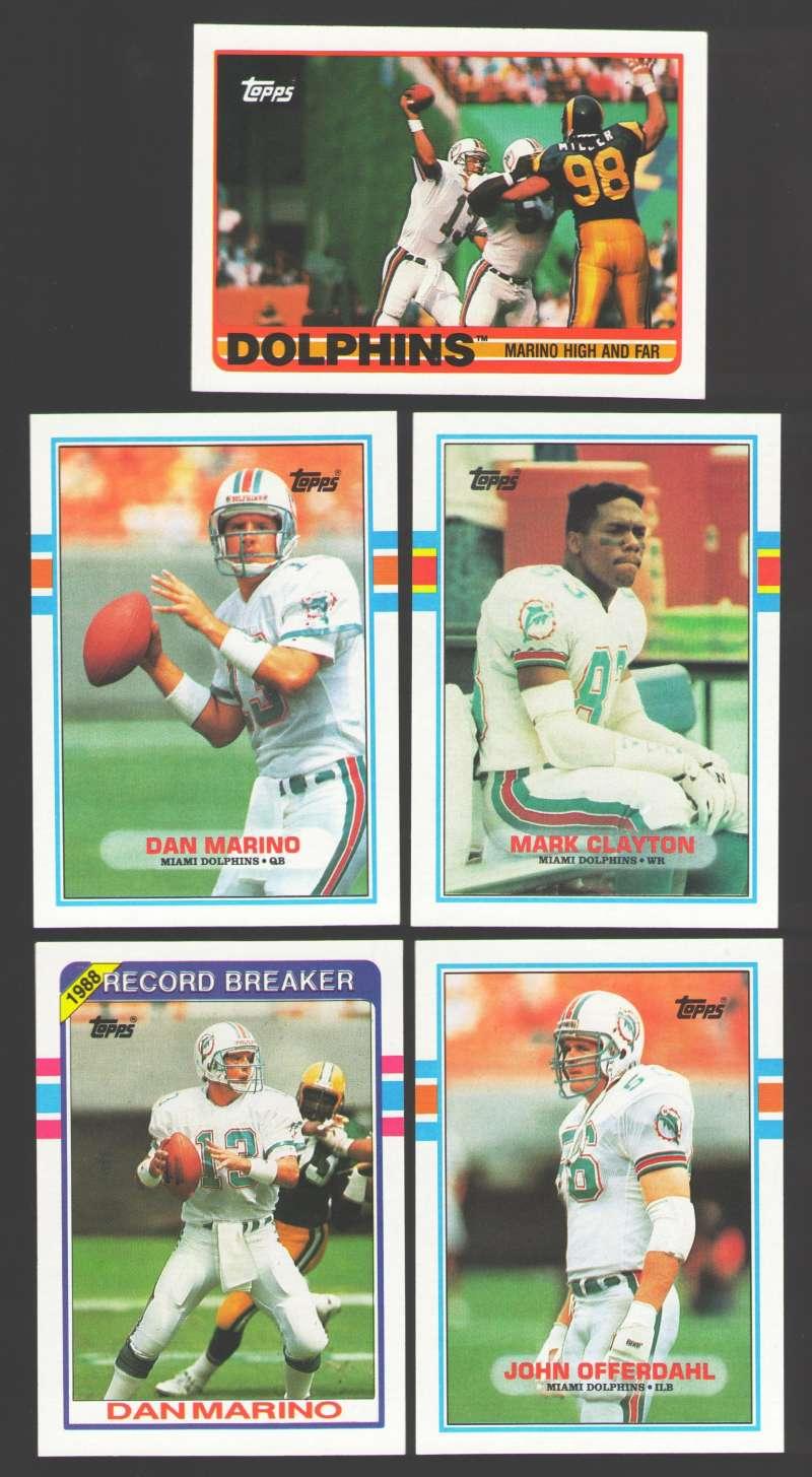 1989 Topps Football Team Set - MIAMI DOLPHINS