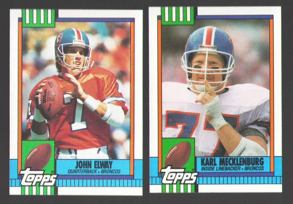1990 Topps Football Team Set - DENVER BRONCOS