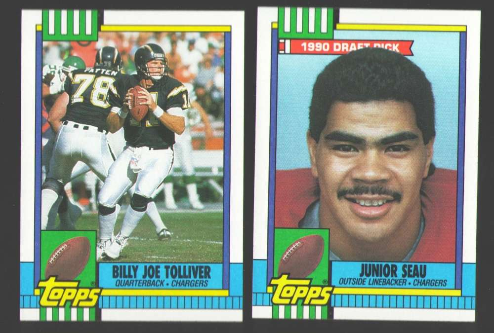 1990 Topps Football Team Set - SAN DIEGO CHARGERS