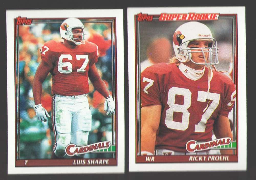 1991 Topps Football Team Set - PHOENIX CARDINALS