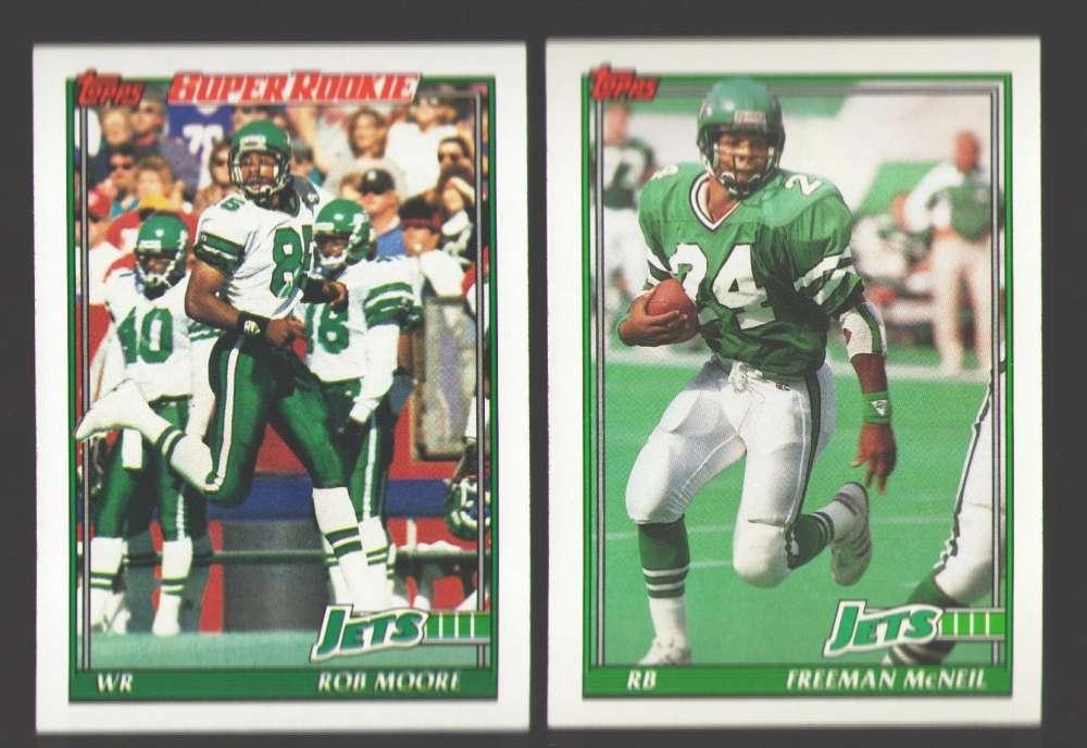 1991 Topps Football Team Set - NEW YORK JETS