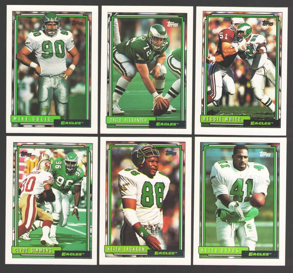 1992 Topps Football Team Set - PHILADELPHIA EAGLES