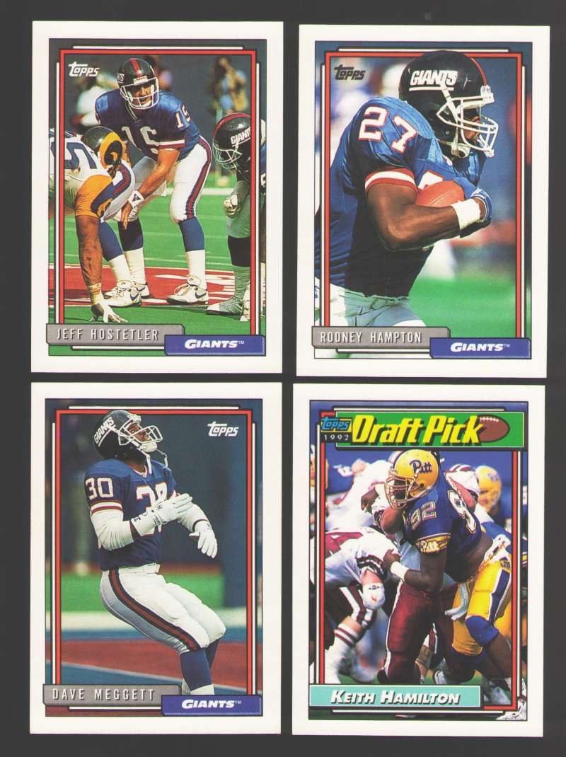 1992 Topps Football Team Set - NEW YORK GIANTS