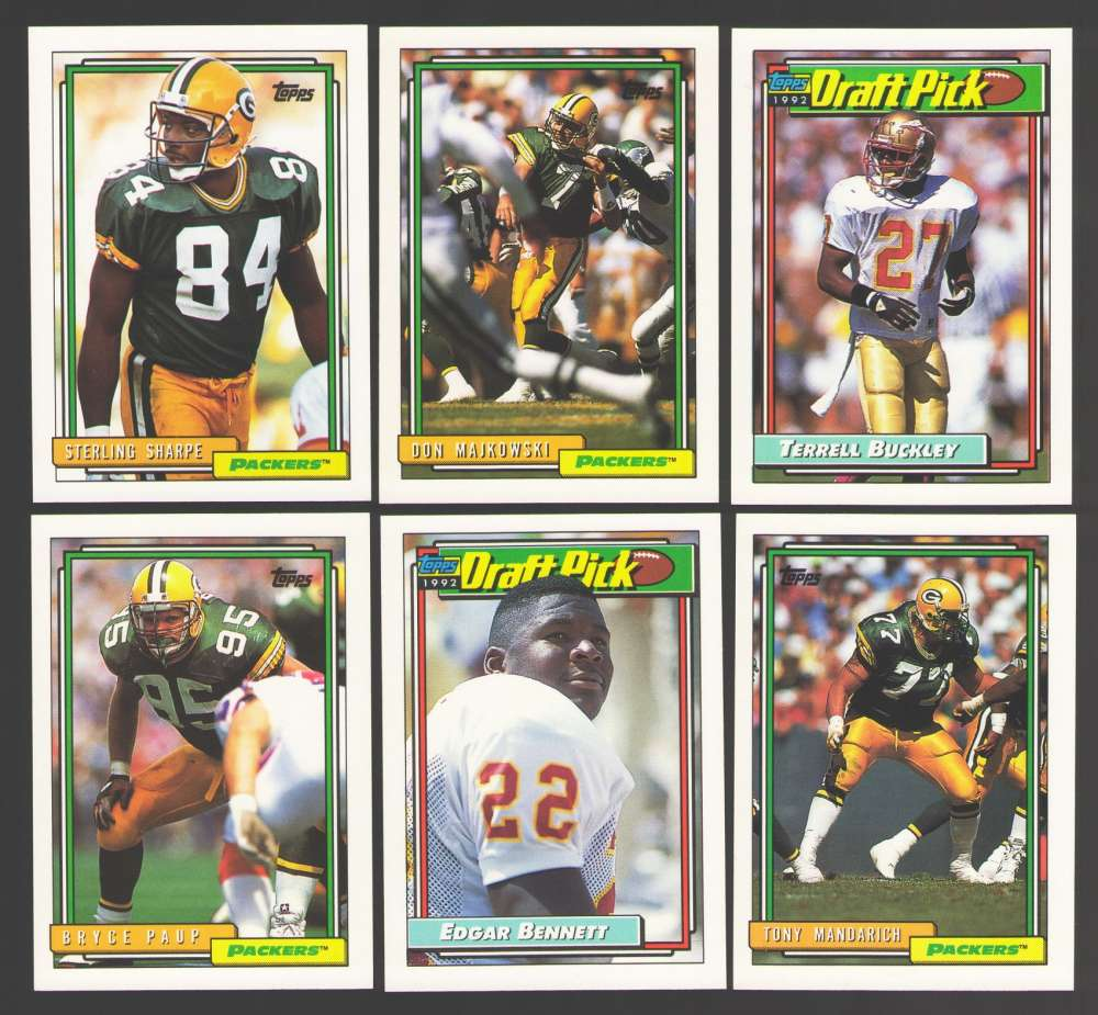 1992 Topps Football Team Set - GREEN BAY PACKERS