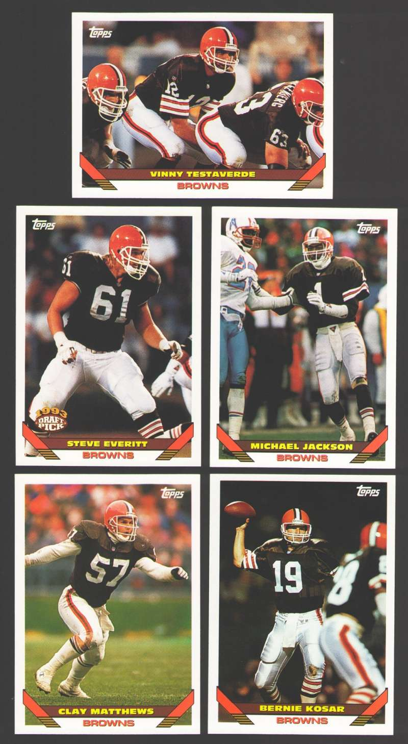 1993 Topps Football Team Set - CLEVELAND BROWNS