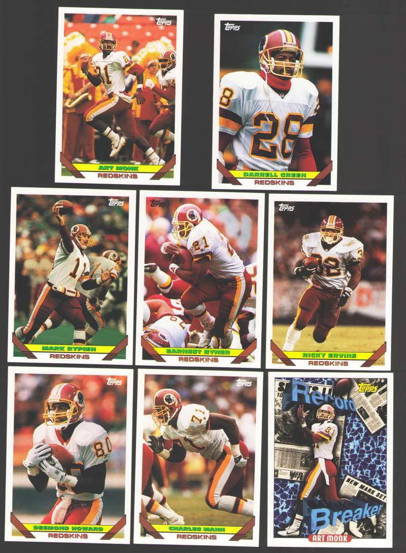 1993 Topps Football Team Set - WASHINGTON REDSKINS