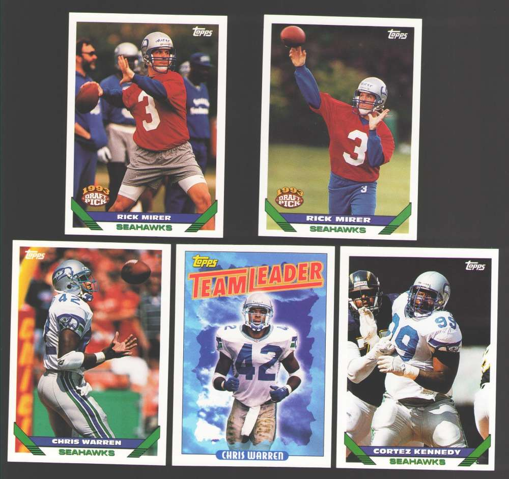 1993 Topps Football Team Set - SEATTLE SEAHAWKS