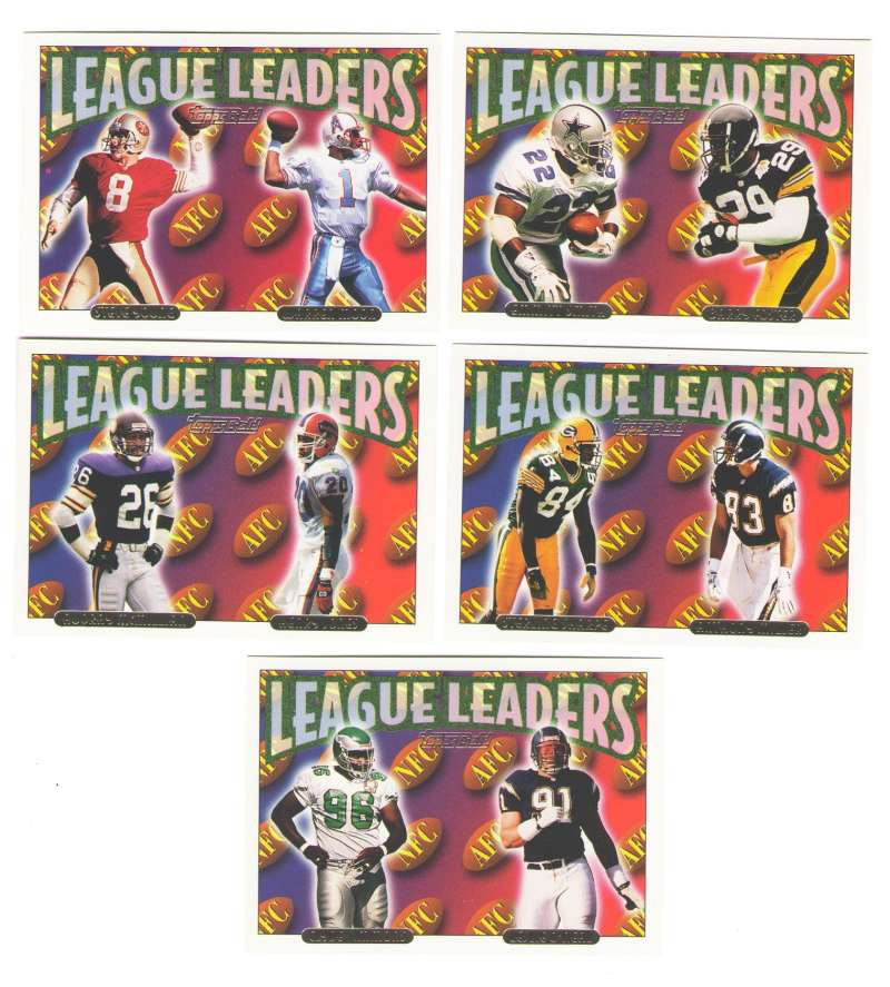 1993 TOPPS GOLD Football League Leaders 5 subset