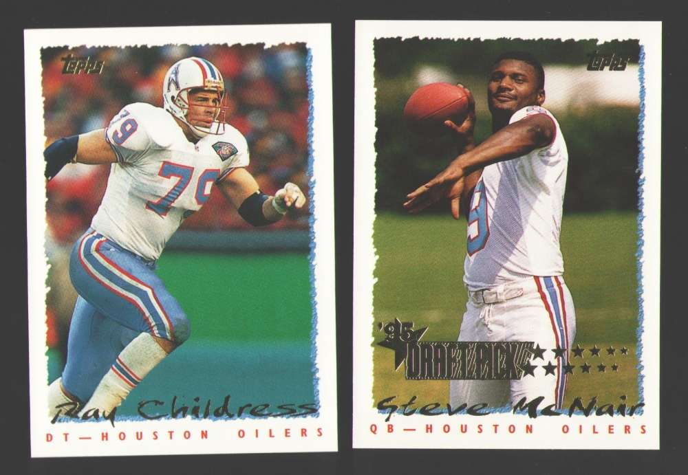 1995 Topps Football Team Set - HOUSTON OILERS