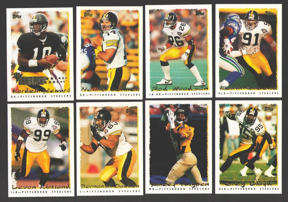 1995 Topps Football Team Set - PITTSBURGH STEELERS
