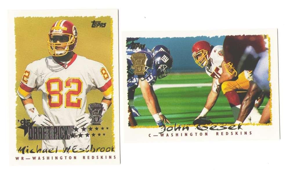 1995 Topps Team Set w/ Carolina Panthers Inaugural Logo - WASHINGTON REDSKINS