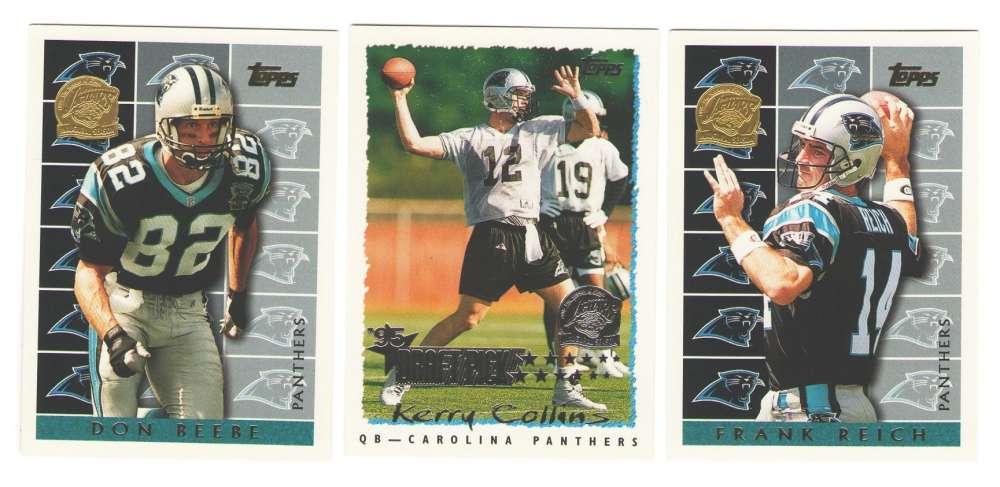 1995 Topps Team Set w/ Jacksonville Jaguars Inaugural Logo - CAROLINA PANTHERS