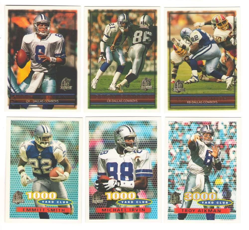 1996 Topps Football Team Set - DALLAS COWBOYS