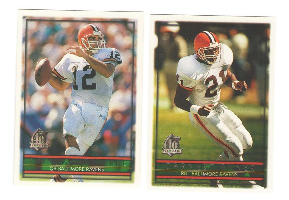 1996 Topps Football Team Set - BALTIMORE RAVENS / Cleveland Browns
