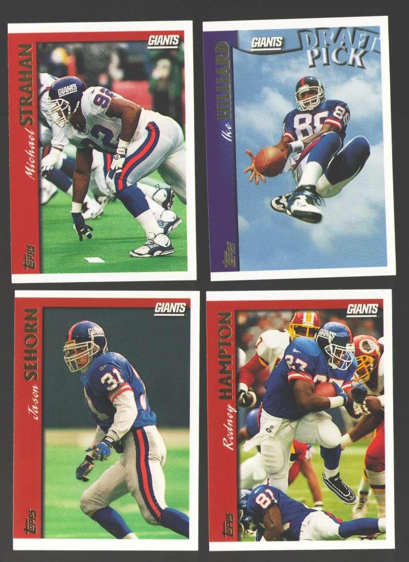 1997 Topps Football Team Set - NEW YORK GIANTS