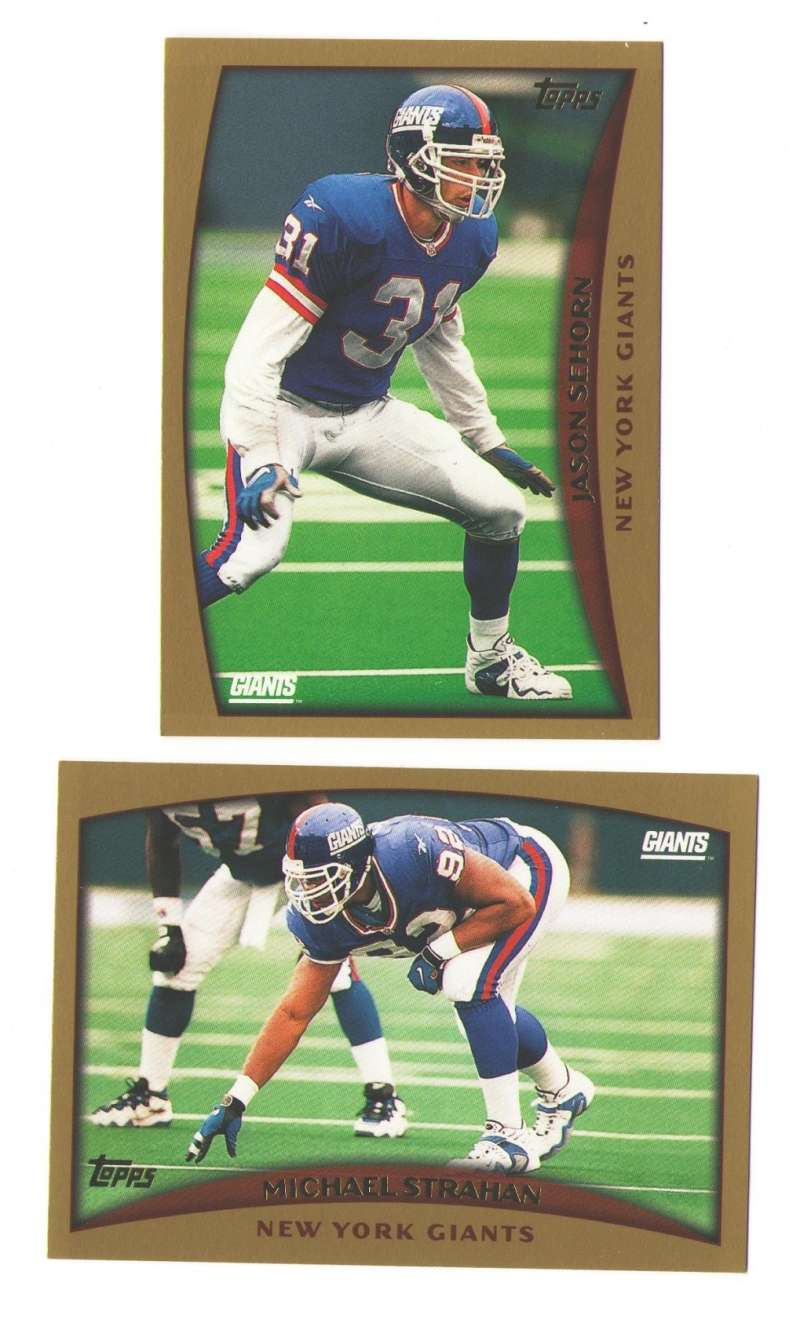 1998 Topps Football Team Set - NEW YORK GIANTS