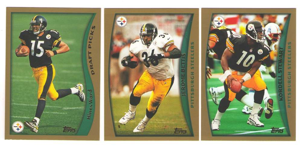 1998 Topps Football Team Set - PITTSBURGH STEELERS w/ HINES WARD RC