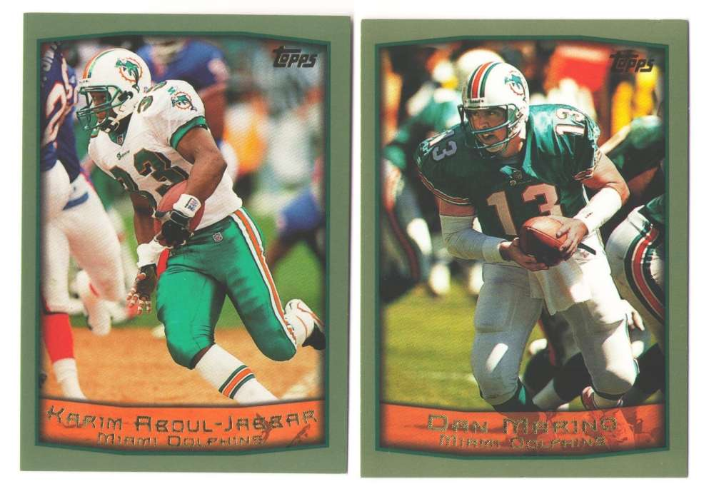 1999 Topps Football Team Set - MIAMI DOLPHINS